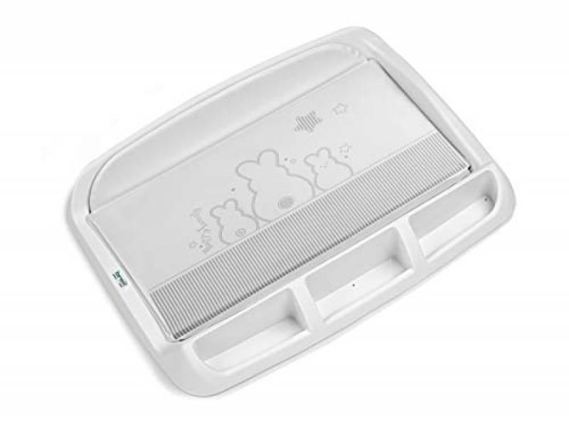 Brevi Tablet Fasciatoio con Portaoggetti, Bianconiglio, Collezione 2020
