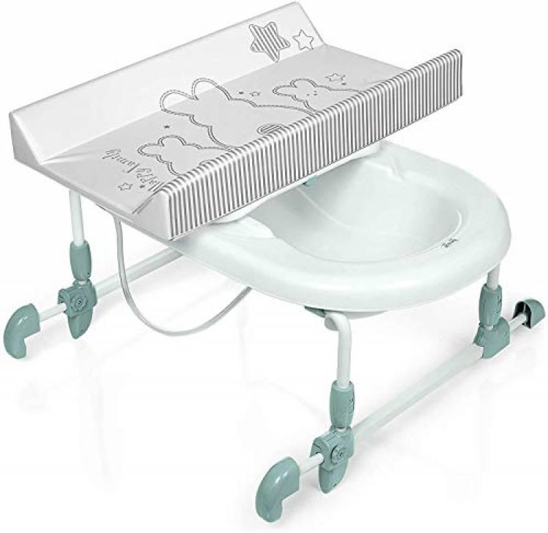 Brevi Bagnotime Collezione 2021 - Bagnetto Reversibile, Bianconiglio, Dalla nascita a 12 mesi (11 kg)