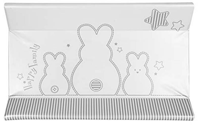 Brevi Confort, Materassino fasciatoio, Multicolore (bianco coniglio), 45 x 74 x 10 cm