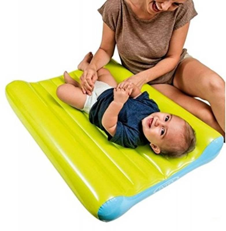 Vetrineinrete® Fasciatoio portatile gonfiabile da viaggio per cambio del pannolino bambini fasciatoi per neonati da gita campeggio 79x58x13 cm B16